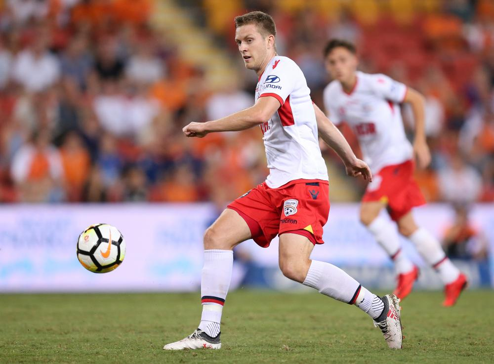 Ryan Kitto of Adelaide United has explosive pace.