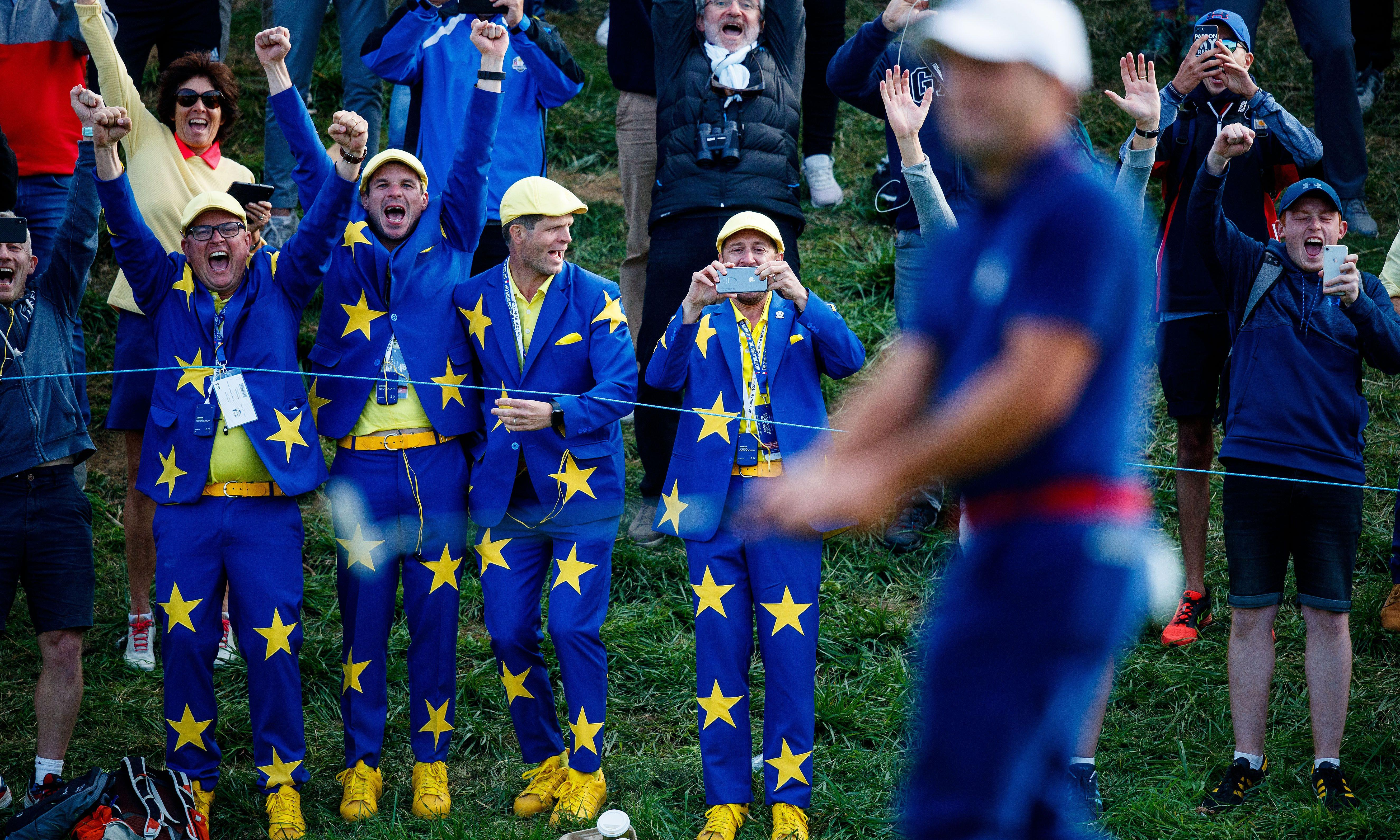For one big golfing weekend, Britain is at the heart of Europe