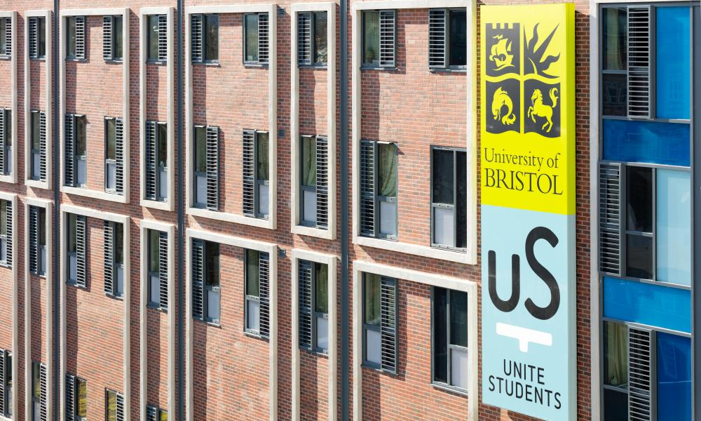 The Unite student accommodation block in Frogmore Street, Bristol. The company has developed and manages student housing across the UK.
