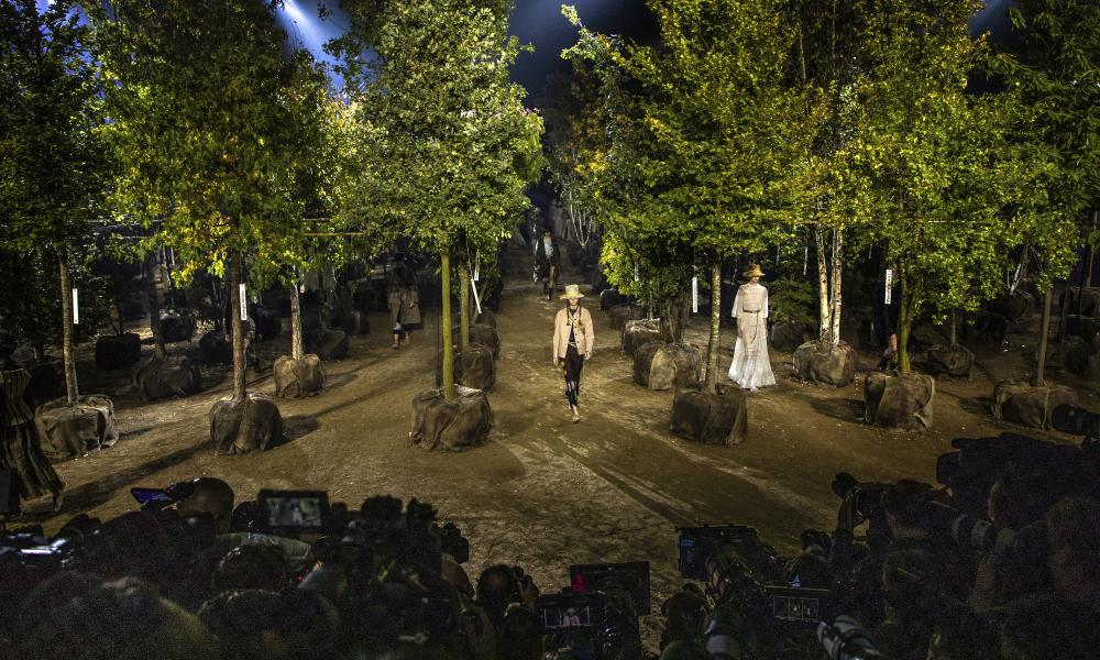 'How can we celebrate nature in a meaningful way?': Maria Grazia Chiuri used 164 trees to stage her spring show.