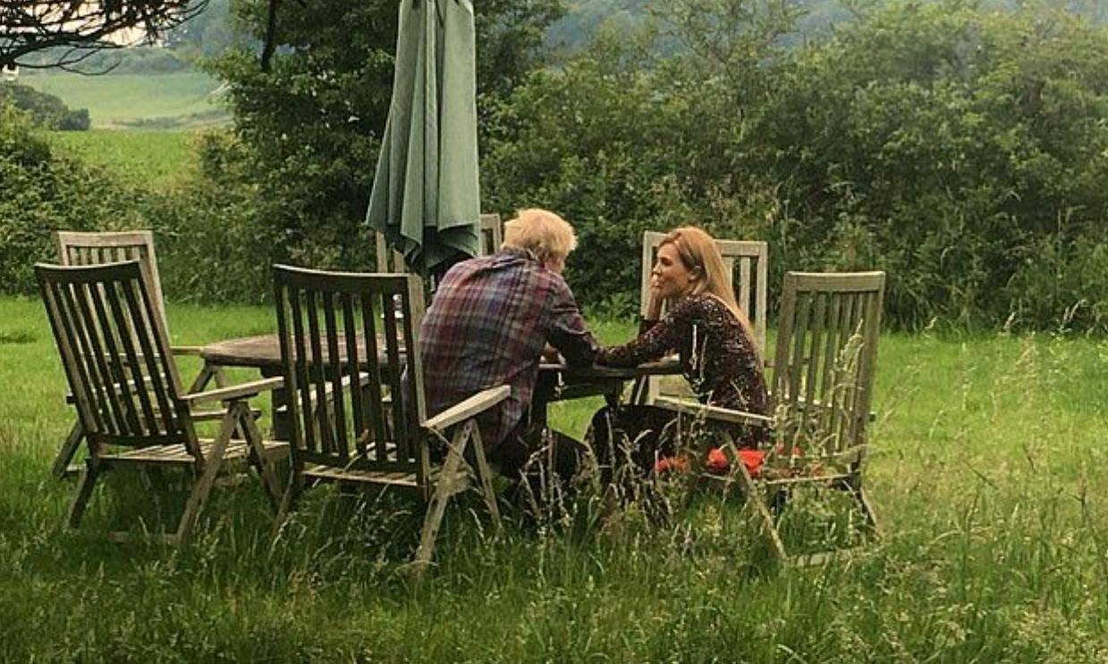 Boris Johnson will not say who released photo with partner, or when it was taken