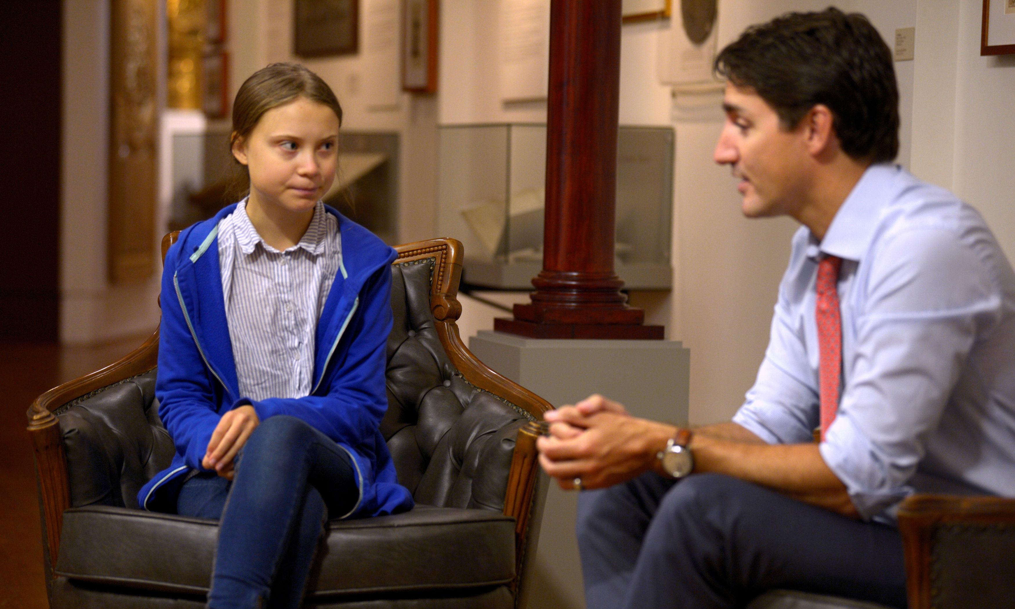 Greta Thunberg meets Justin Trudeau amid climate strikes: 'He is not doing enough'