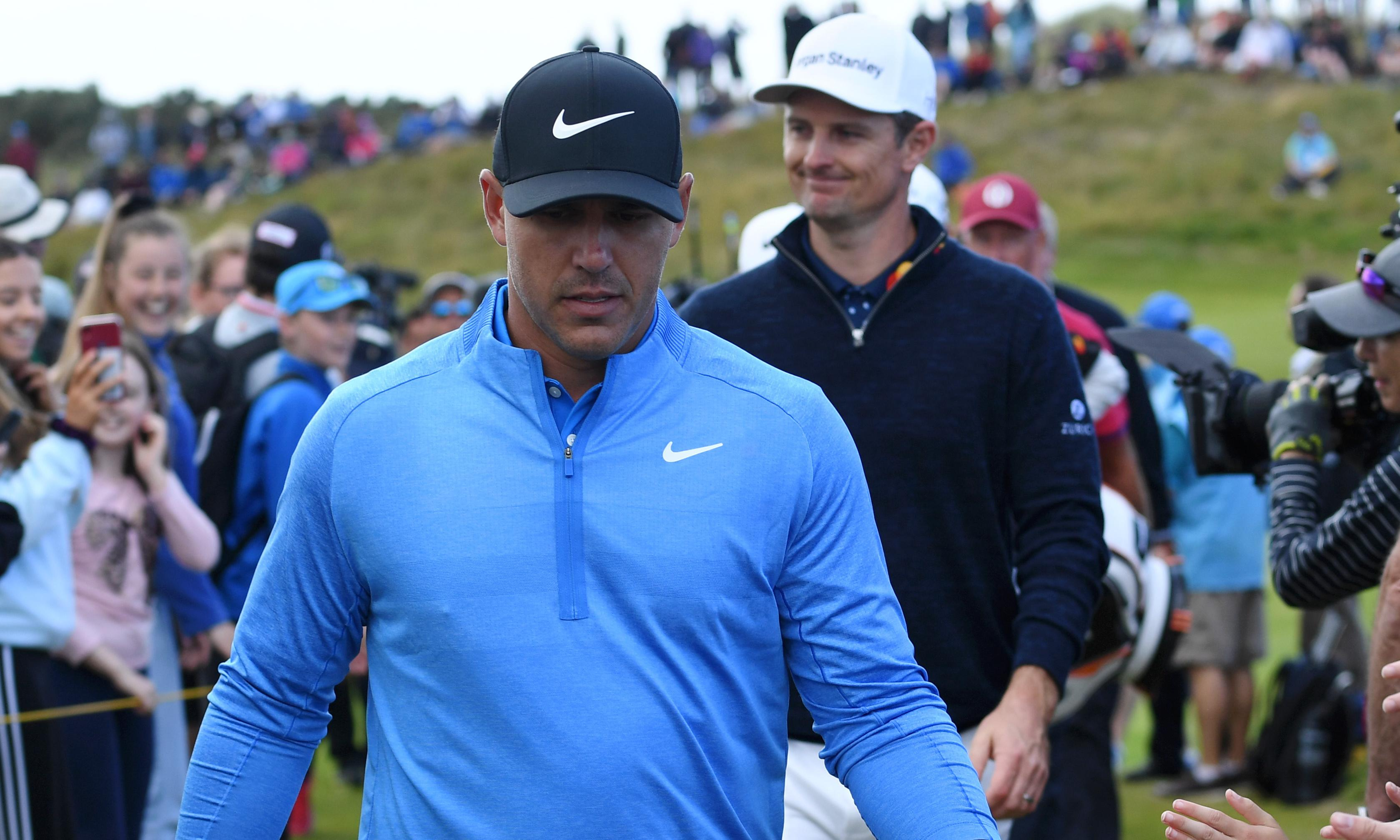 Brooks Koepka and Justin Rose lurk with Open leaders in their sights