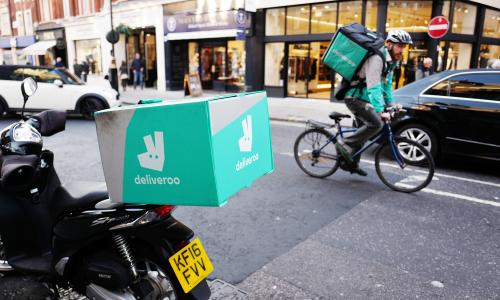 Deliveroo couriers in London