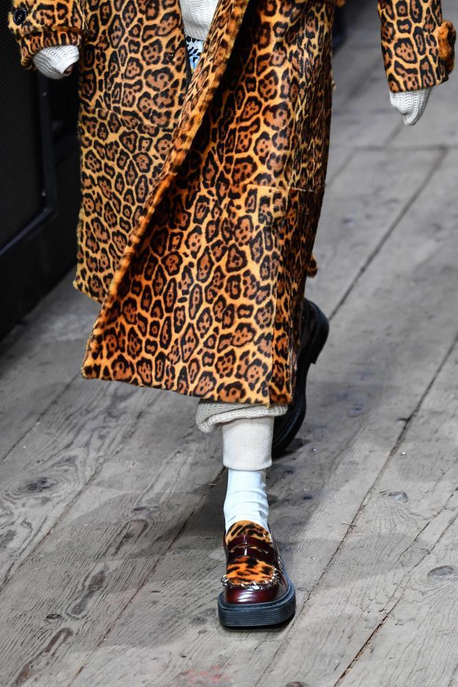 Leopard print on the Marni catwalk in Milan.