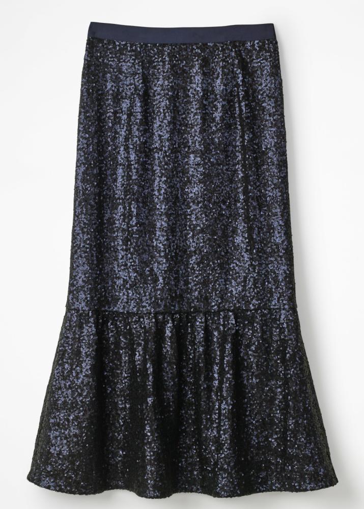 Sequin midi skirt, £120, Boden