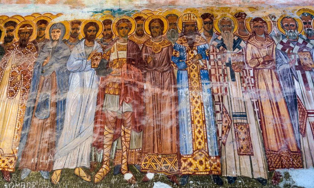 Frescoes at Zica Monastery, Serbian Orthodox church, near Kraljevo, Raska District