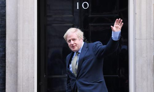 Mandatory Credit: Photo by James Veysey/REX/Shutterstock (10504684m) Boris Johnson returns to Number 10 Downing Street Prime Minister Boris Johnson in Downing Street, London, UK - 13 Dec 2019