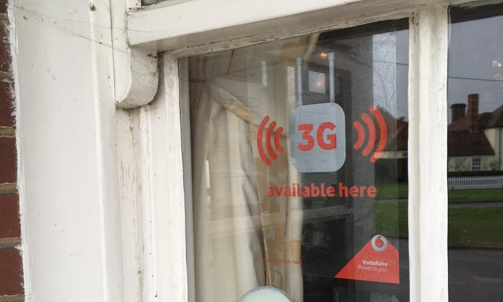 Vodafone's Sure Signal femtocell boosts 3G signal locally using a broadband connection.