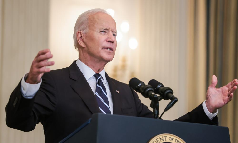 Biden delivers remarks on his plan to stop the spread of the Delta variant and boost Covid-19 vaccinations, in the State Dinning Room of the White House on Thursday.