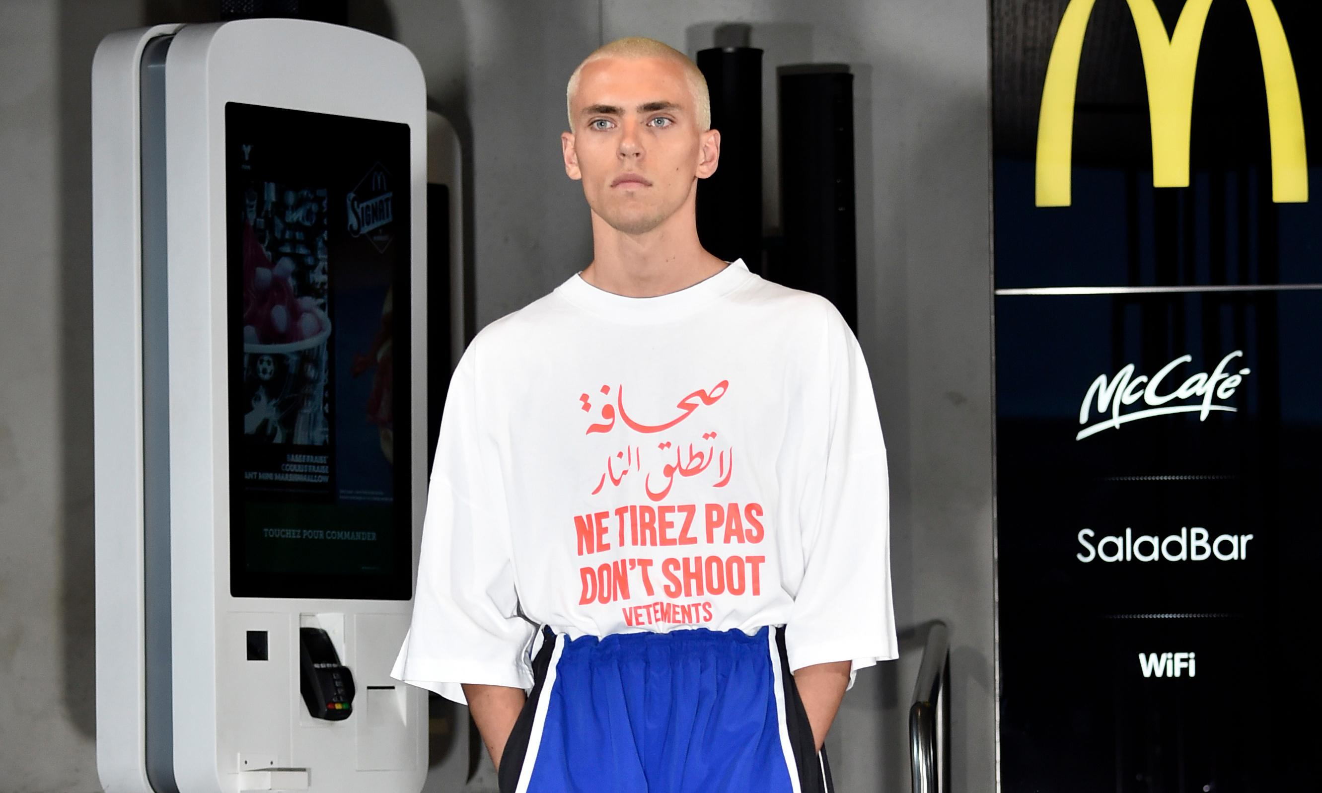 'Don't shoot': why Vetements' latest T-shirt is causing controversy