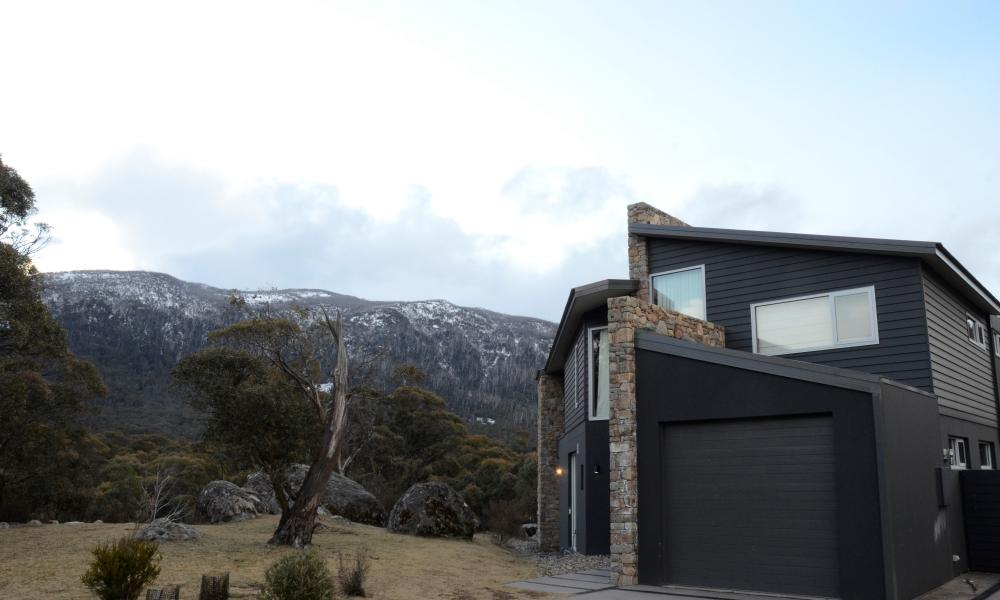 Lake Crackenback Resort and Spa superior lodge in August 2015.