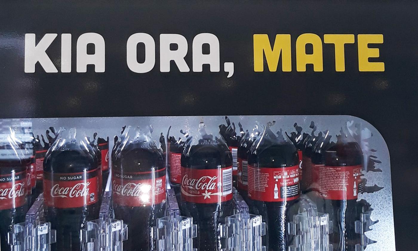 'Hello, death': Coca-Cola mixes English and Māori on vending machine