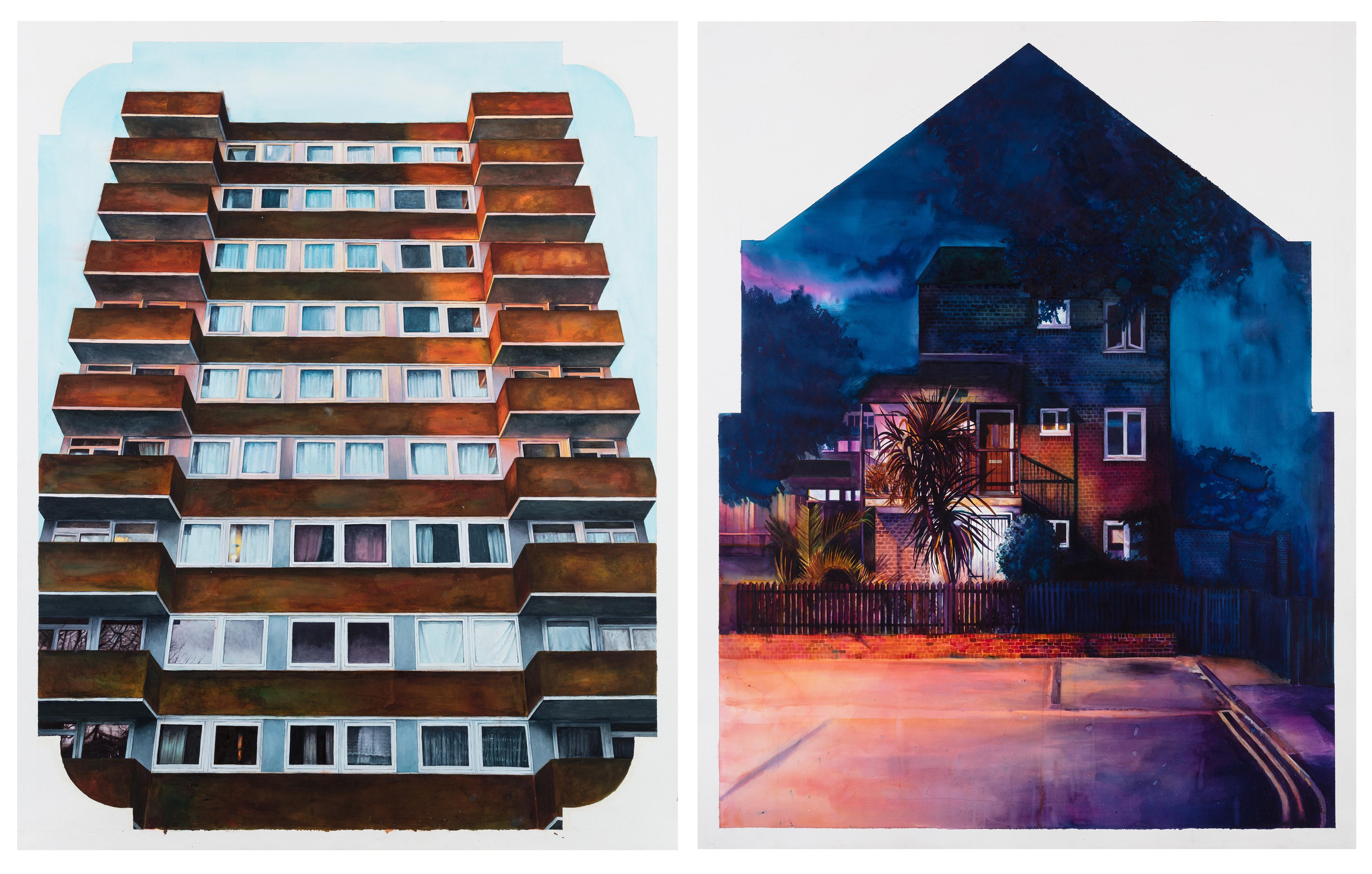 'Future relics': the painter capturing the beauty of council houses