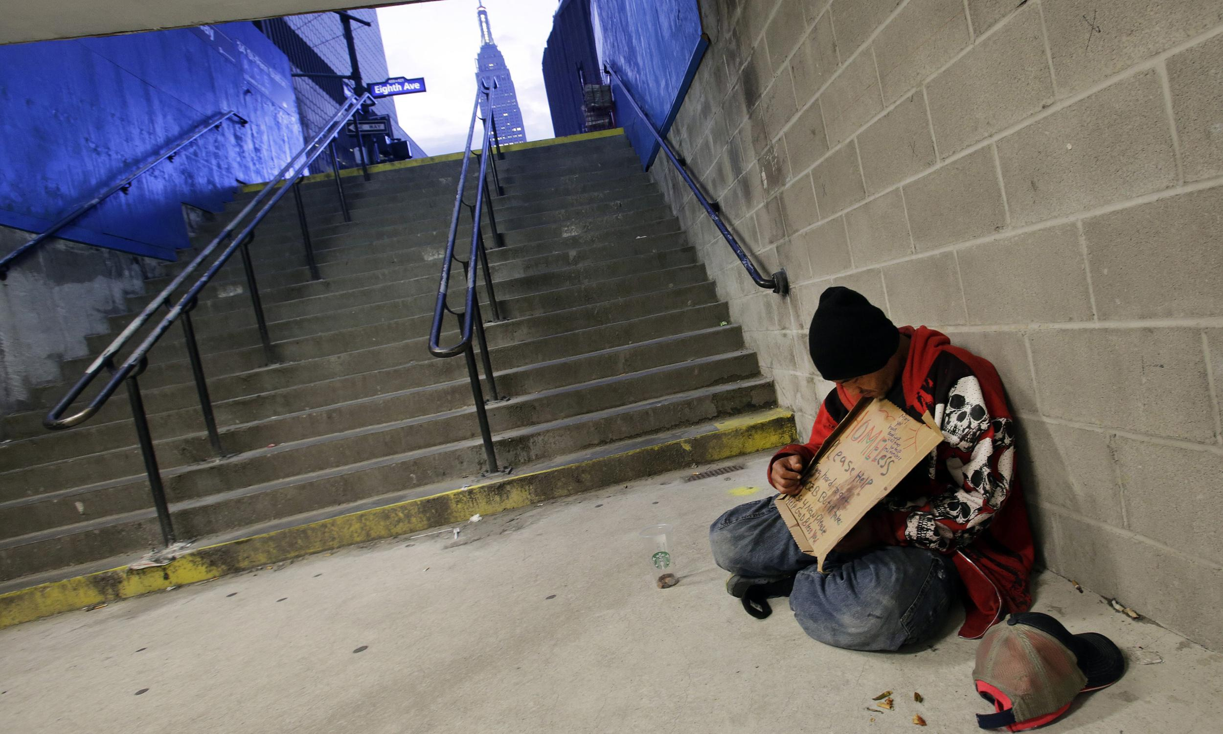 'I'm just sleeping': police crack down on homeless in New York's subways