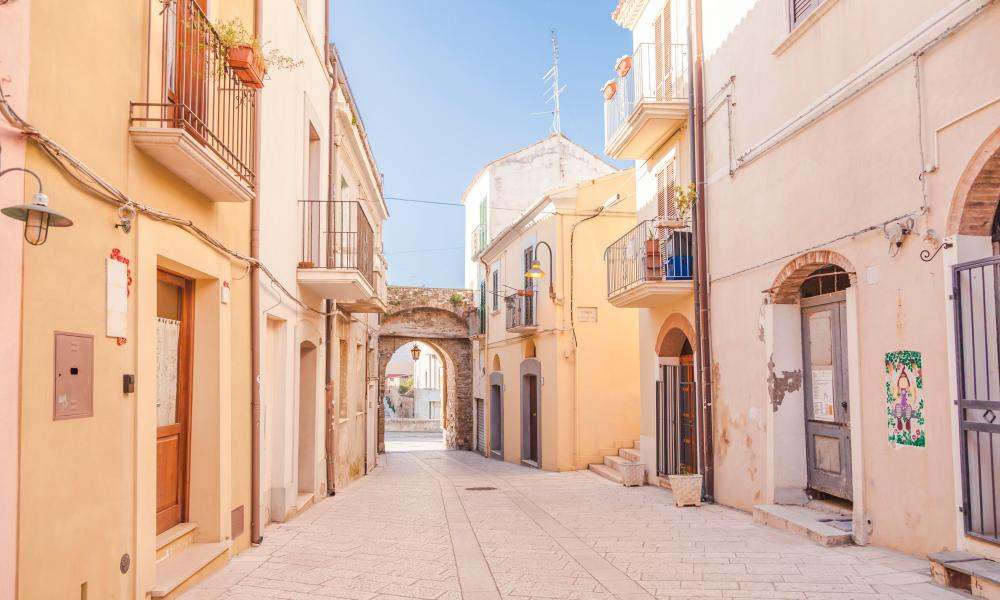 The old town of Termoli.
