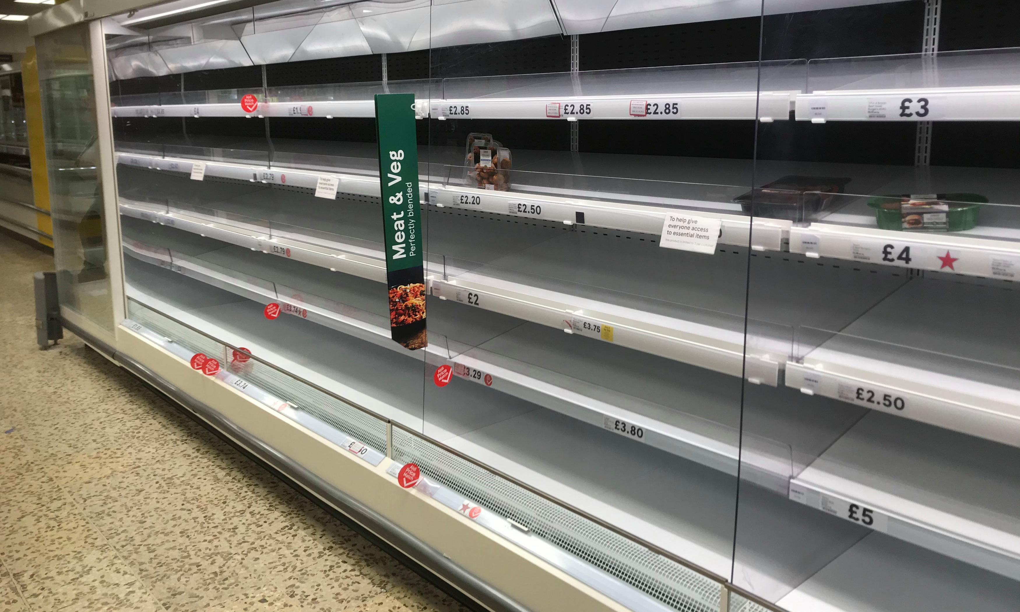 The Guardian view on empty supermarket shelves: panic is not the problem