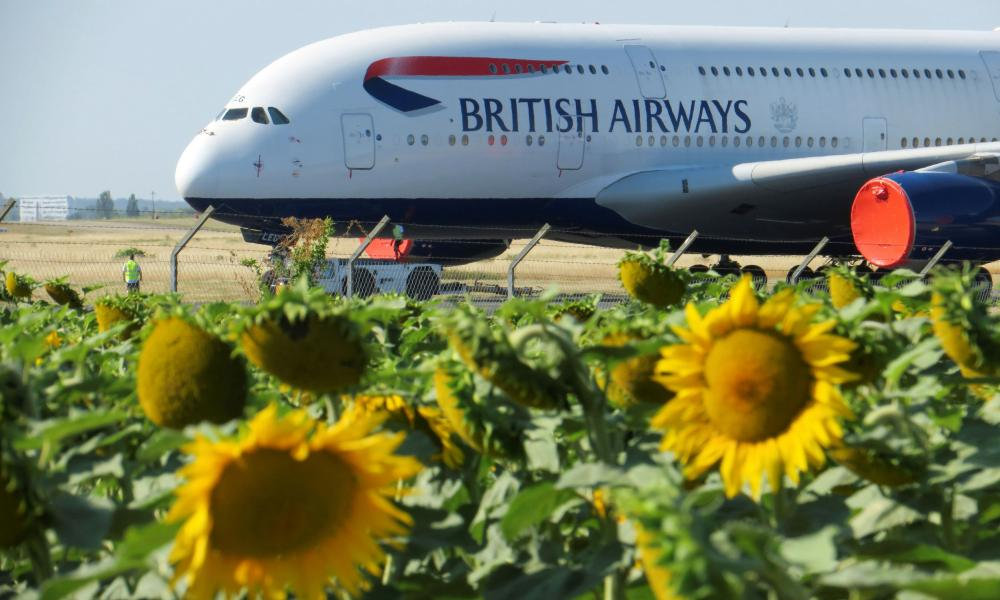 Airplanes at Chateauroux airport in FranceTechnicians move a British Airways Airbus A380 airplane stored on the tarmac of Marcel-Dassault airport at Chateauroux, following the outbreak of the coronavirus disease (COVID-19) in France July 30, 2020.