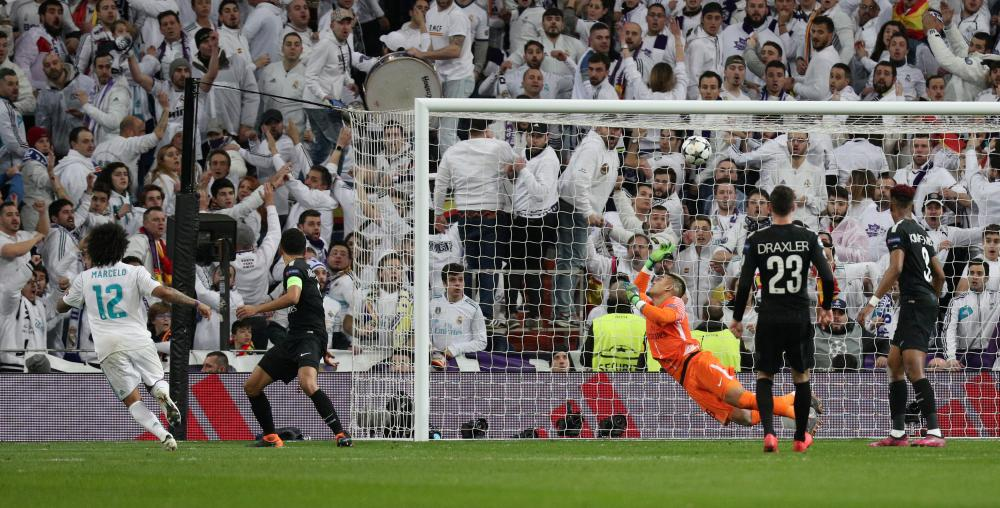 Marcelo scores the third.