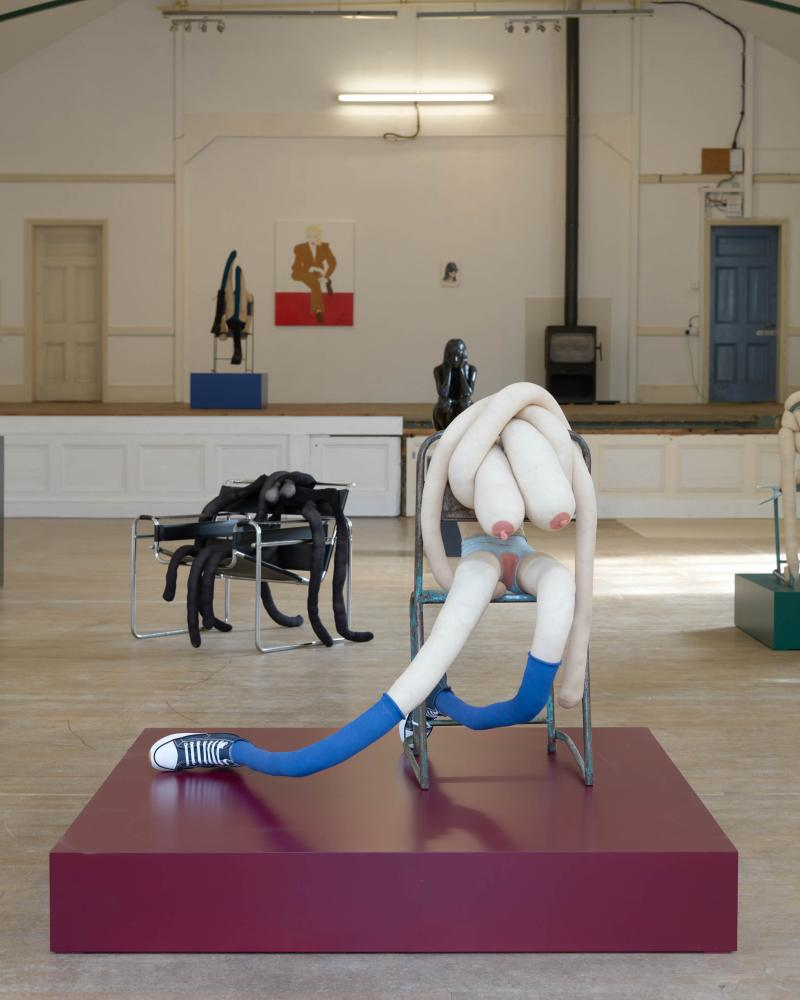 Sarah Lucas's Dimsy Gilly Flower, 2021, in her show Pop Goes the Pastoral at the Old Theatre, Framlingham, Suffolk.