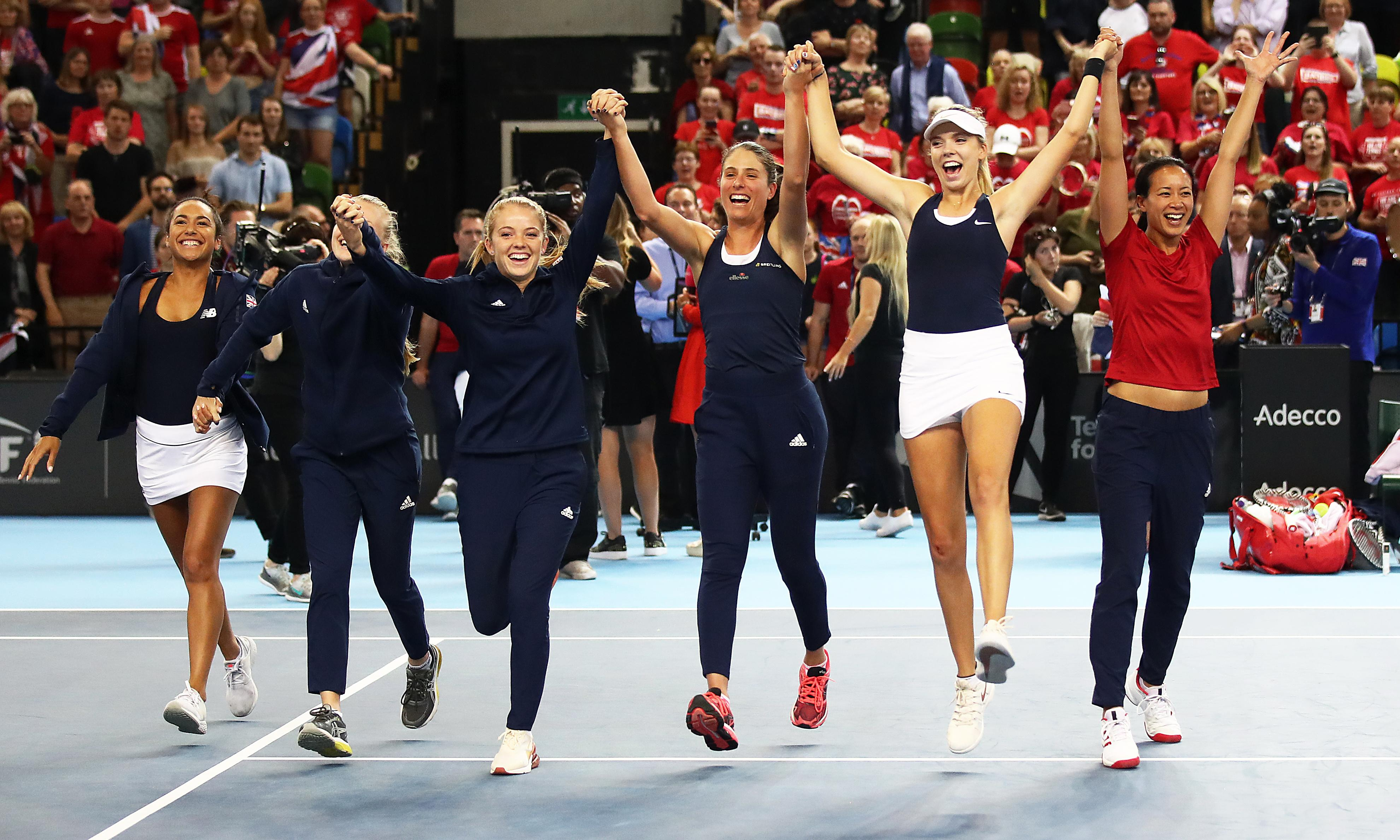 Johanna Konta and Katie Boulter end GB's 26-year wait for Fed Cup promotion