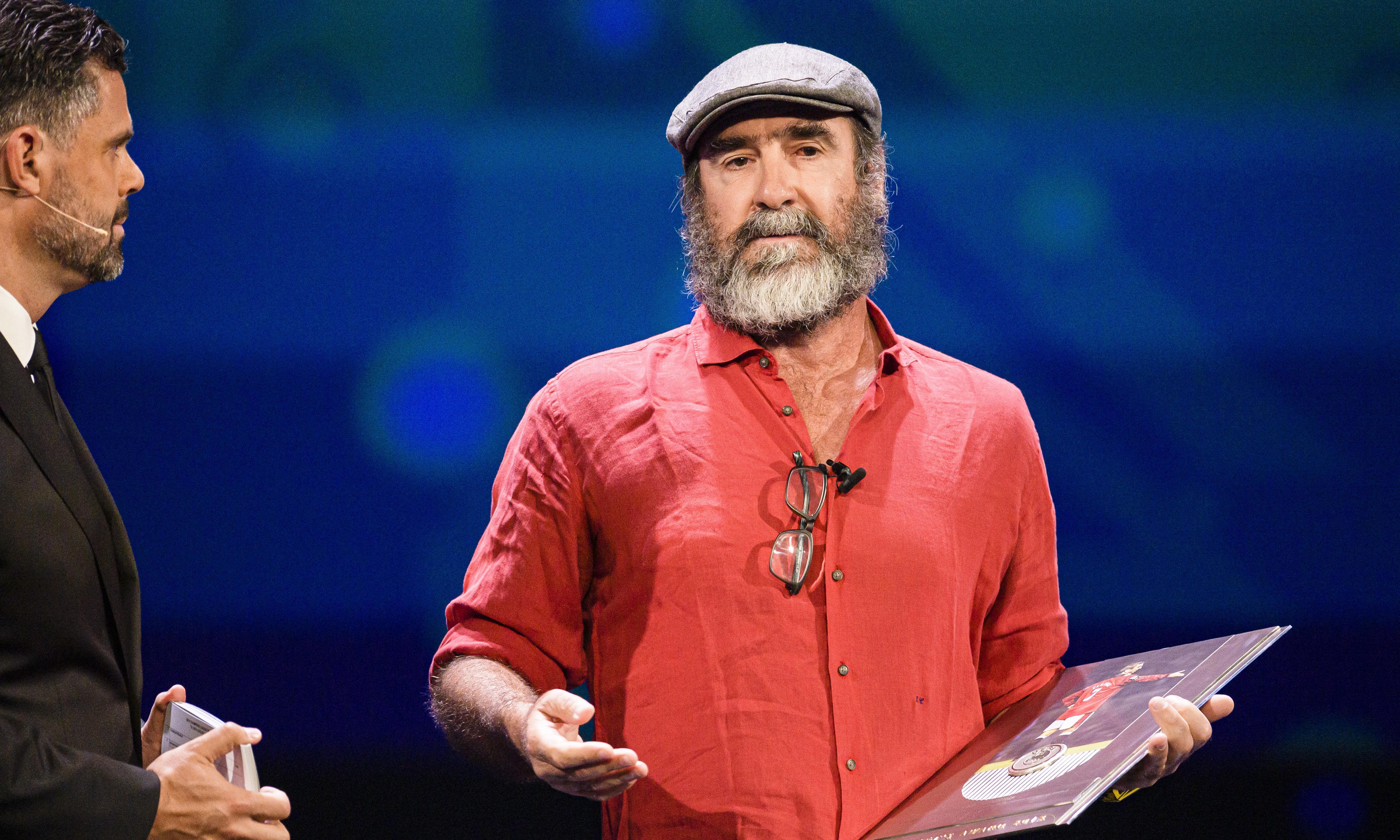 Eric Cantona speech: humans 'will become eternal' – unless crime or war intervene