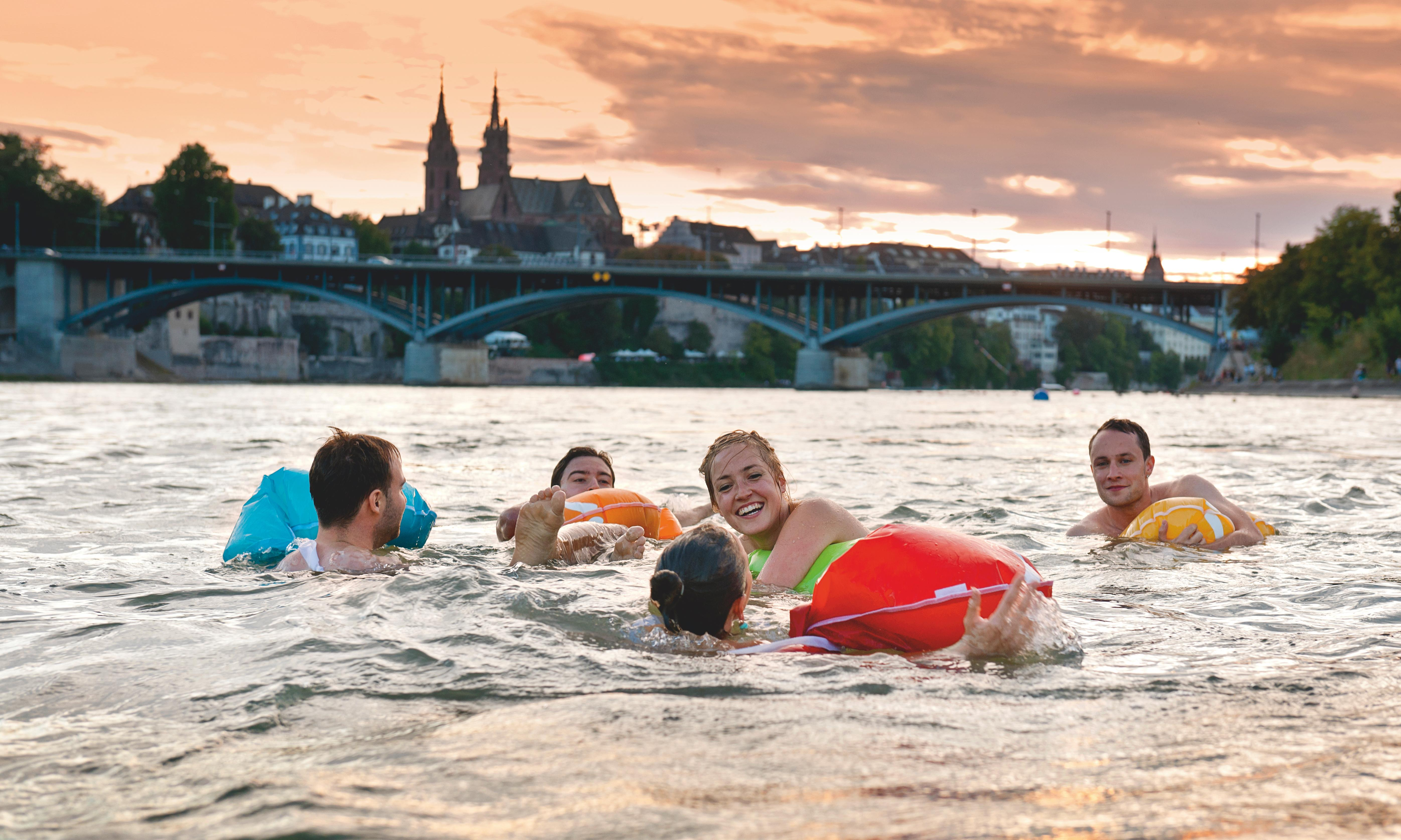 City swimming, Swiss-style: a ride down the Rhine in Basel