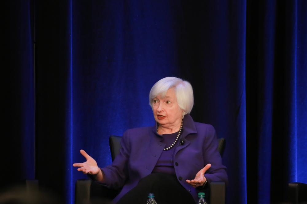 Janet Yellen pictured in January last year.