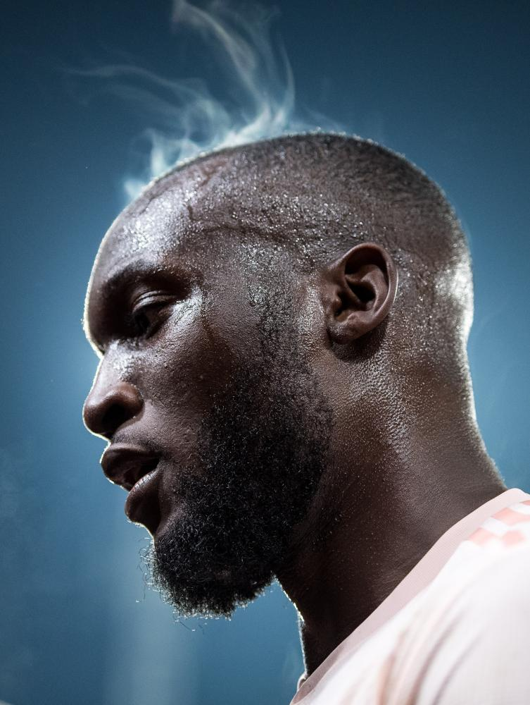 February 27: Romelu Lukaku of Manchester United steams during the match between Crystal Palace and Manchester United at Selhurst Park.