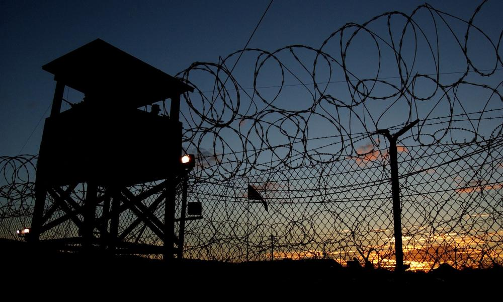 Camp X-Ray at Guantánamo Bay on 11 January 2002.