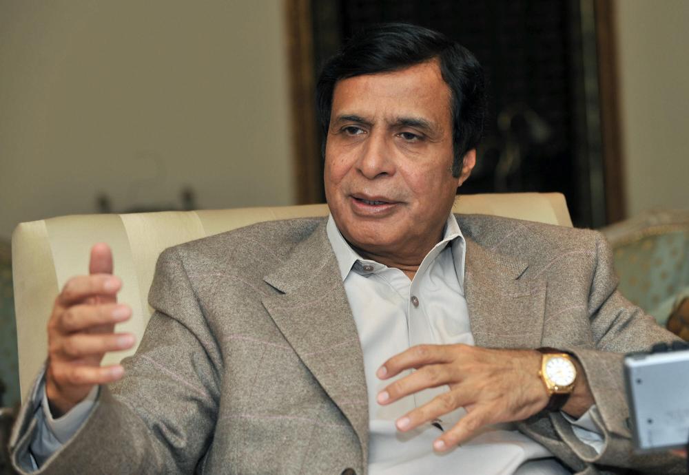 Chaudhry Pervaiz Elahi pictured in 2008