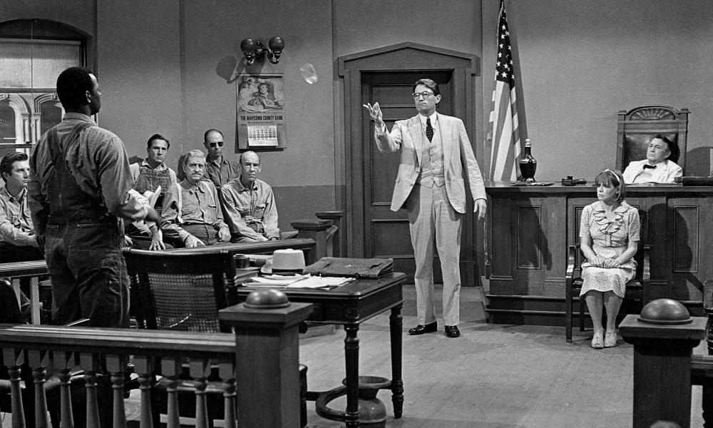 'Hurtful language that has oppressed the people for over 200 years' … Brock Peters and Gregory Peck in the film version of To Kill a Mockingbird.