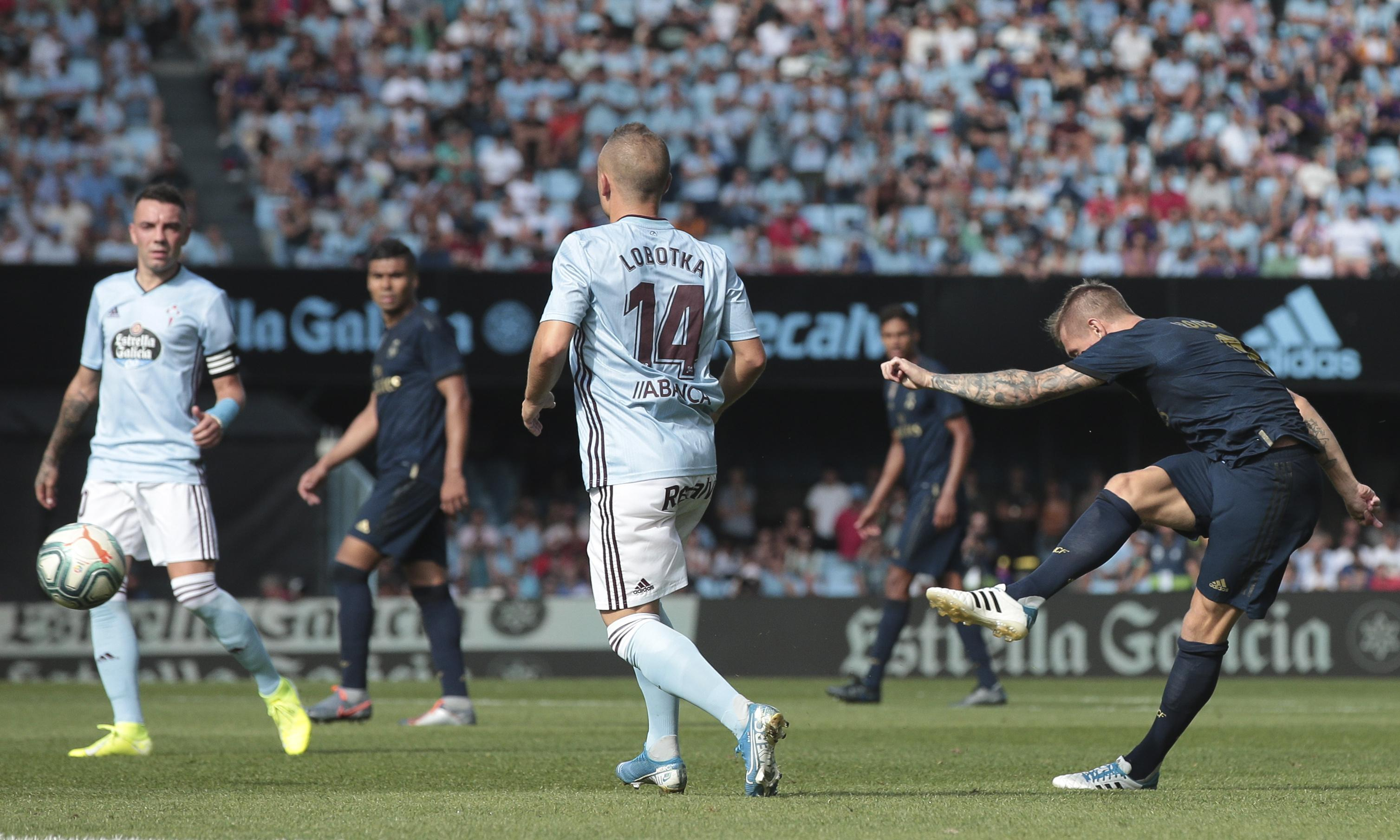 Toni Kroos scores stunning goal as Real Madrid get off to a flyer at Celta Vigo