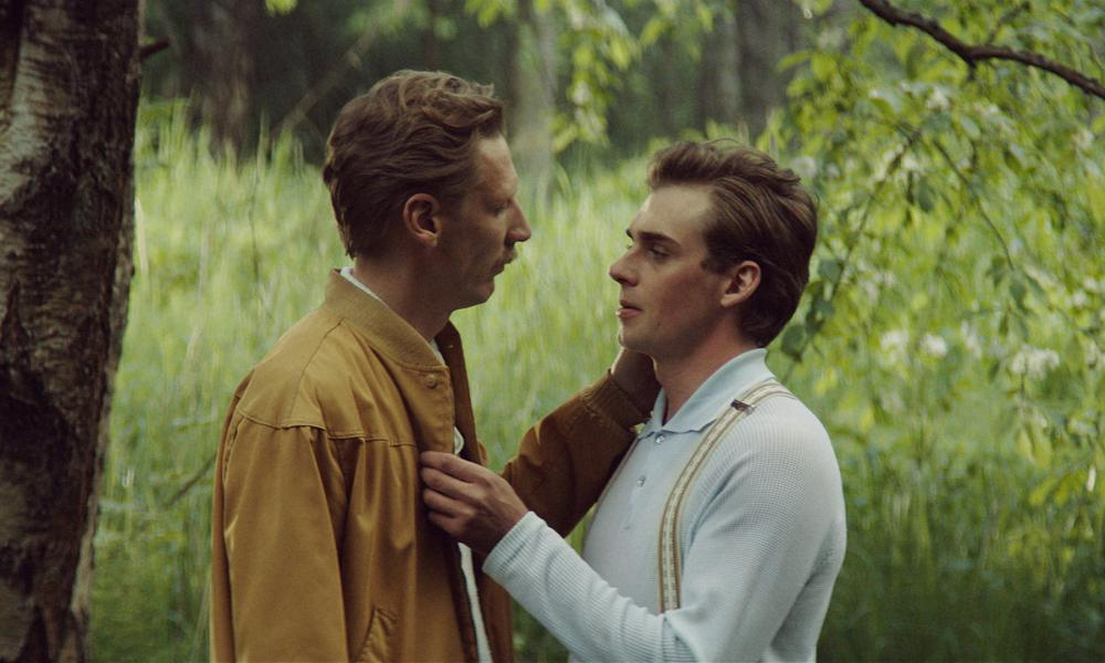 Pekka Strang as Laaksonen and Lauri Tilkanen as Veli in the Tom of Finland film.