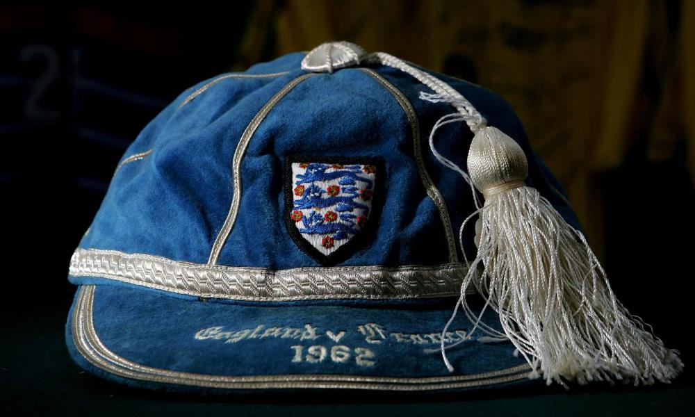 The cap given to Bobby Moore when England played France at Hillsborough in 1962.